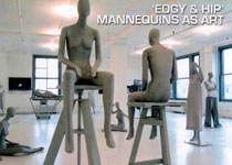 Edgy And Hip Mannequins As Art
